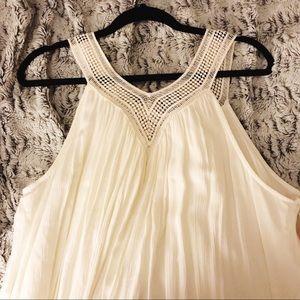 Cream boho maxi dress